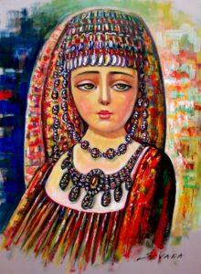 Armenian girl by Armenian Painter Sevada Grigoryan