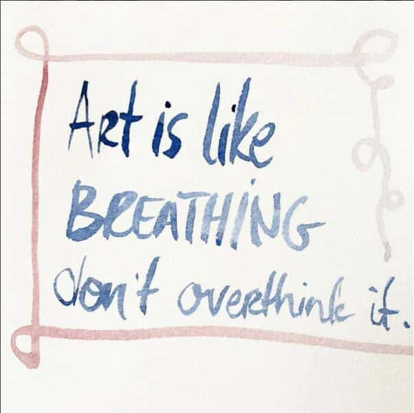 art is like breathing by Katerina Lanfranco