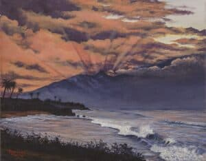Hookipa by Hawaiian Painter Darice Machel McGuire