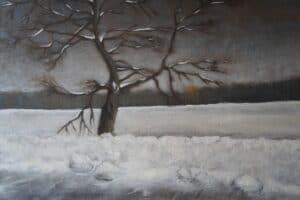Roadside tree in winter by Liene Haruta