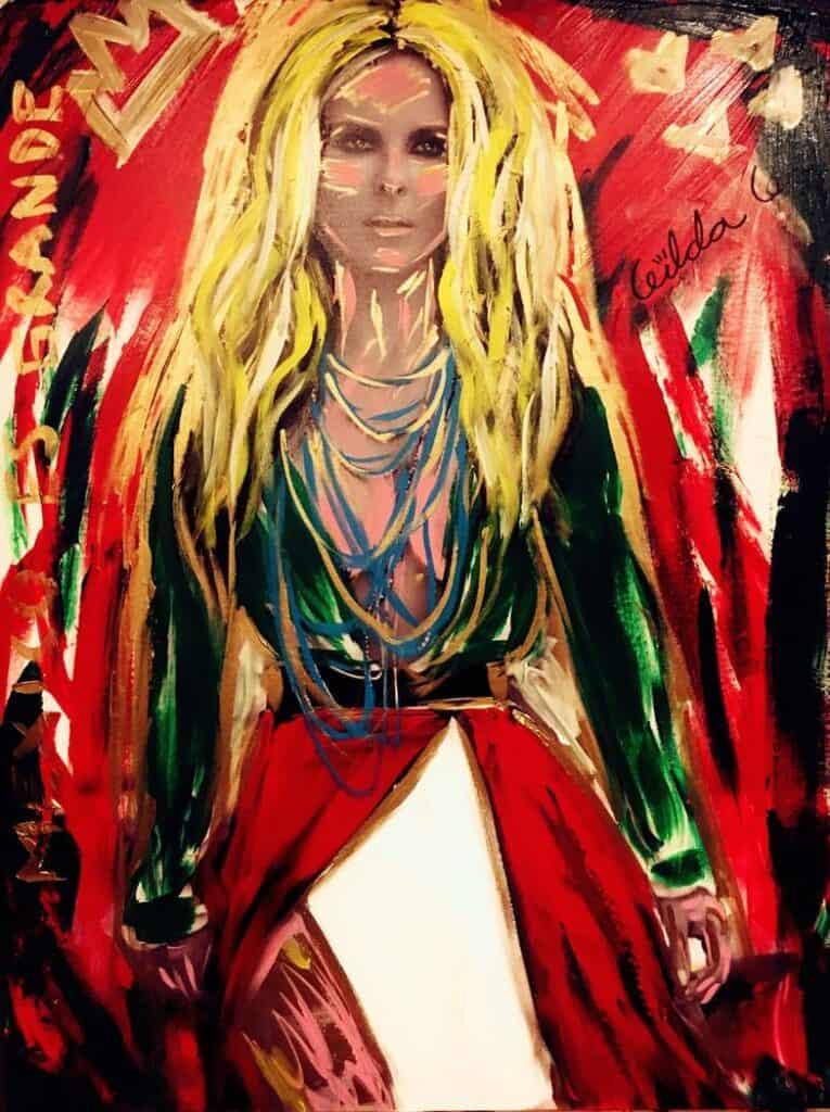 Mexican artist Gilda Garza's portrait of actress Kate del Castillo La Reyna