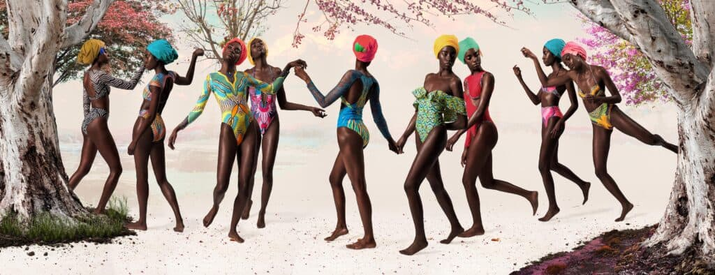 Fashion designer Dumebi Iyamah_Swimwear Flock Birds