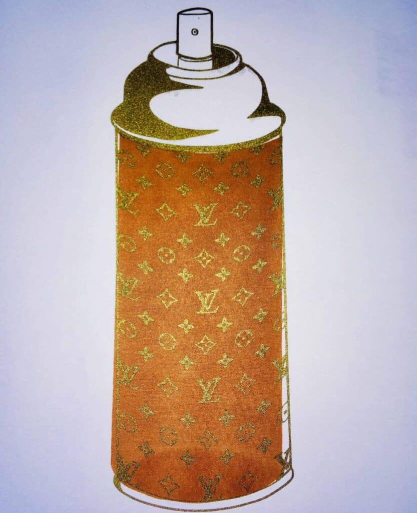 Louis Vuitton LV Luxury Spray Can by Mr. Clever Art