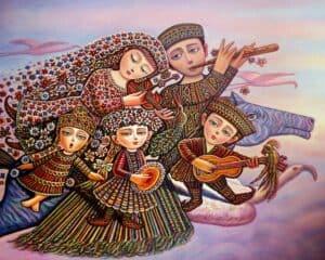 Country of Pink Dreams by Armenian Painter Sevada Grigoryan