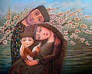 The Apricot has Blossomed by Armenian Painter Sevada Grigoryan